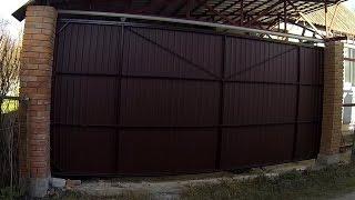 Ворота откатные подвесные автоматические. Часть 3 (делаем каркас ворот и ферму для направляющей).(Ворота откатные подвесные автоматические. Часть 3 (делаем каркас ворот и ферму для направляющей). Мой униве..., 2014-09-13T11:39:00.000Z)