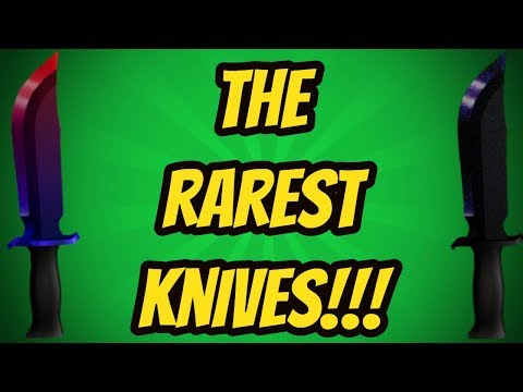 TOP 10 RAREST KNIVES!!! (ROBLOX ASSASSIN)