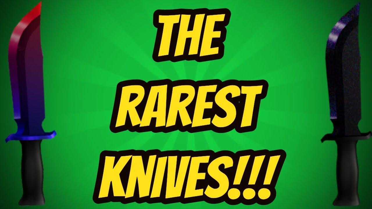 Top 10 Rarest Knives Roblox Assassin Youtube