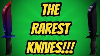 TOP 10 RAREST KNIVES!!! (ROBLOX ASSASSIN)