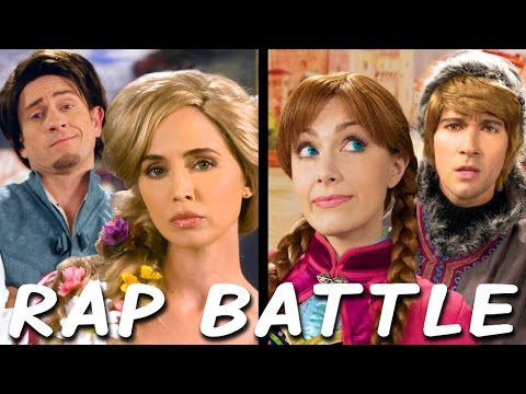 RAPUNZEL vs ANNA: Princess Rap Battle Eliza Dushku James Maslow Tom Lenk Whitney Avalon *explicit*