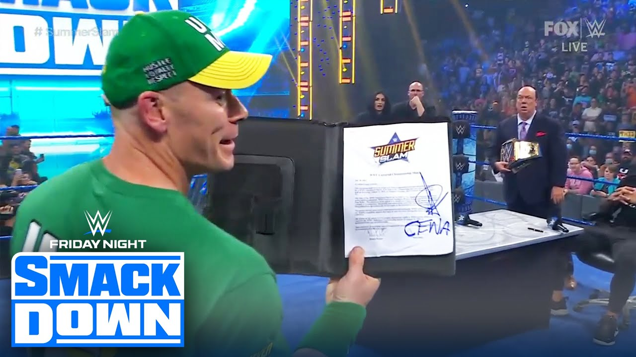 John Cena hijacks Bálor's SummerSlam contract to face Reigns | FRIDAY NIGHT SMACKDOWN | WWE ON FOX
