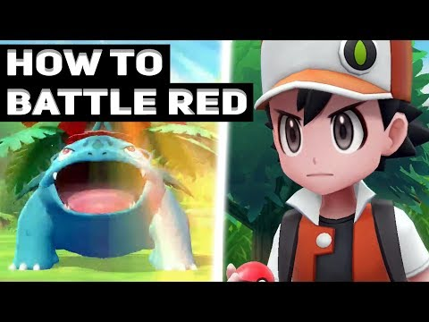 How To Battle Red In Pokémon Let's Go Pikachu! & Let's Go Eevee! How To Unlock And Beat!