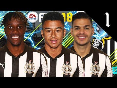 BEN ARFA, ZAHA, LINGARD SIGN! FIFA 18: NEWCASTLE UNITED CAREER MODE #1