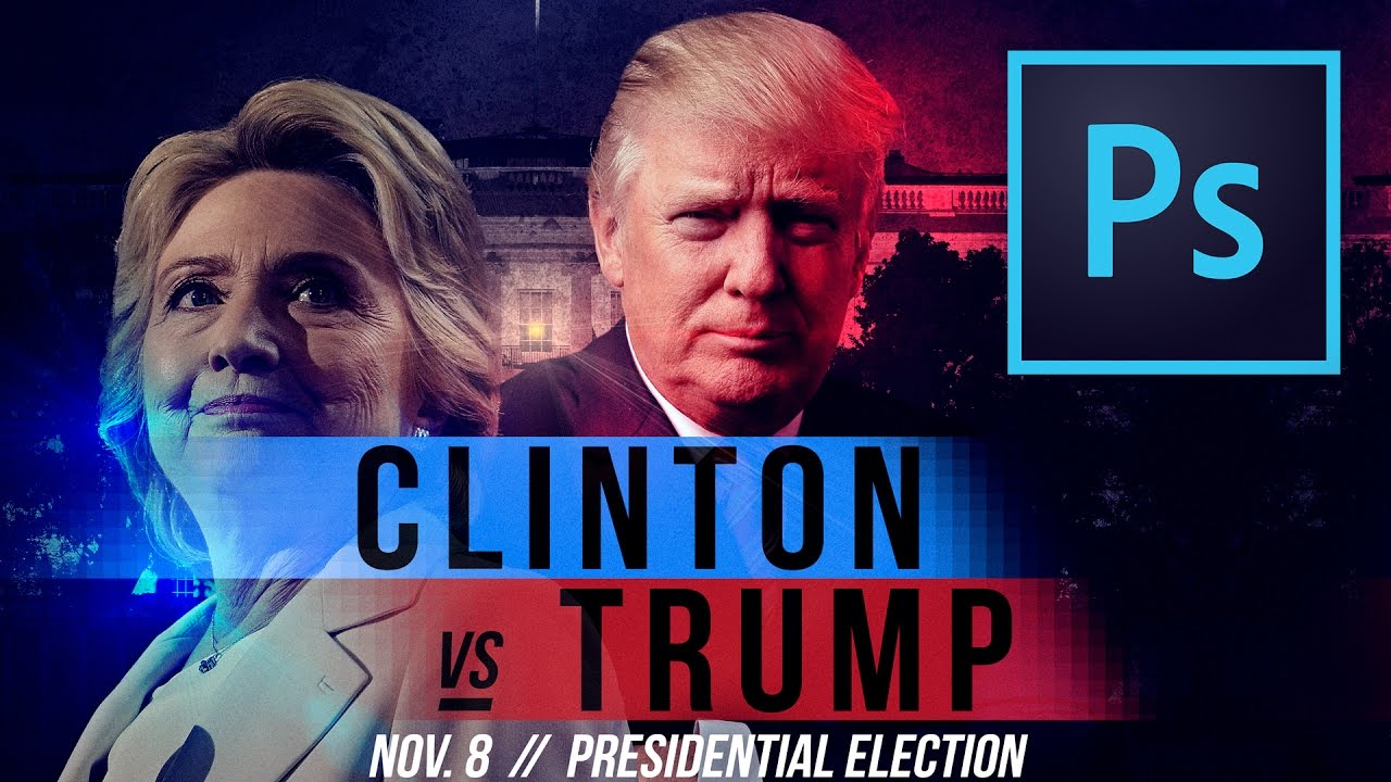 Hillary vs. Trump UFC/Boxing Style Poster in Photoshop CC ...