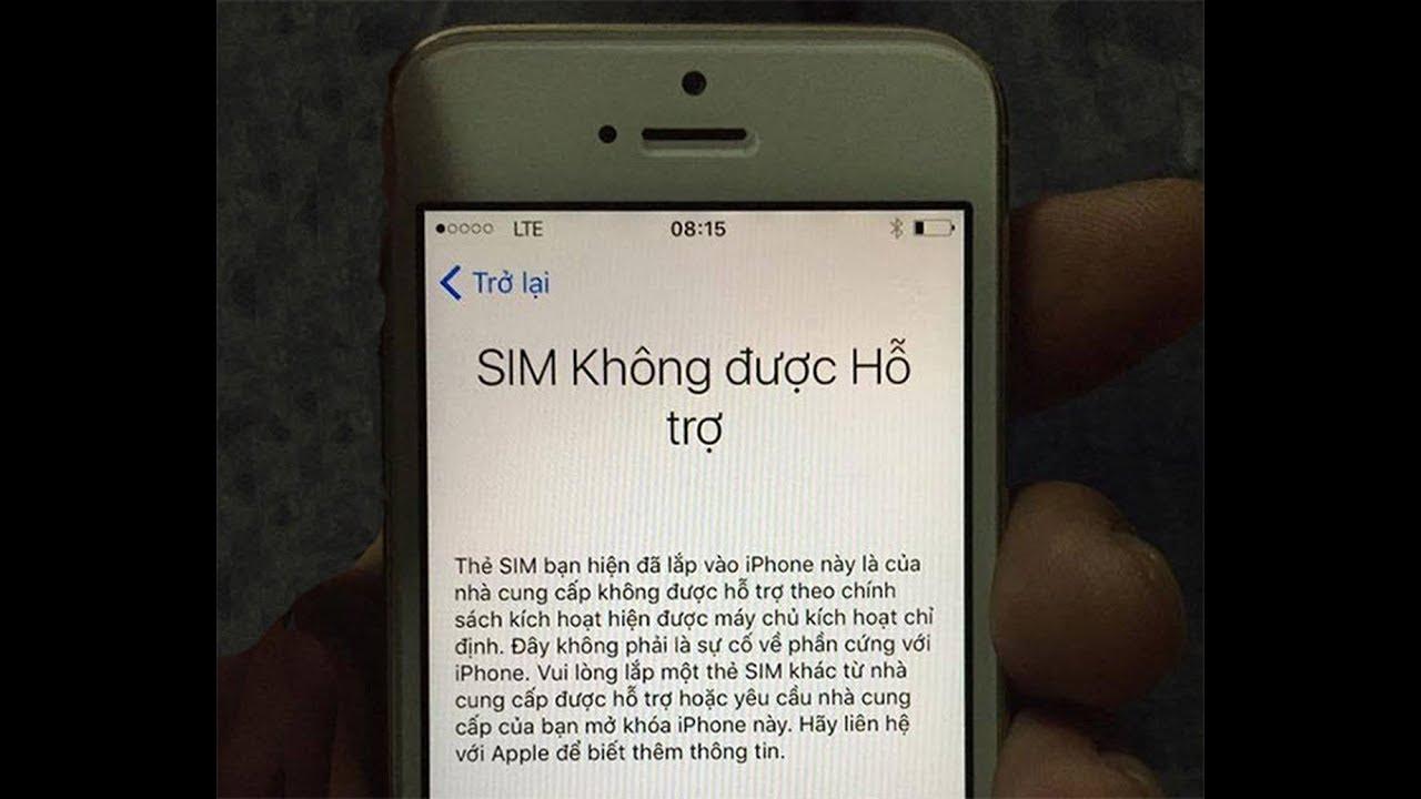 Hướng Dẫn khắc phục SIM KHÔNG ĐƯỢC HỖ TRỢ trên iPhone Lock