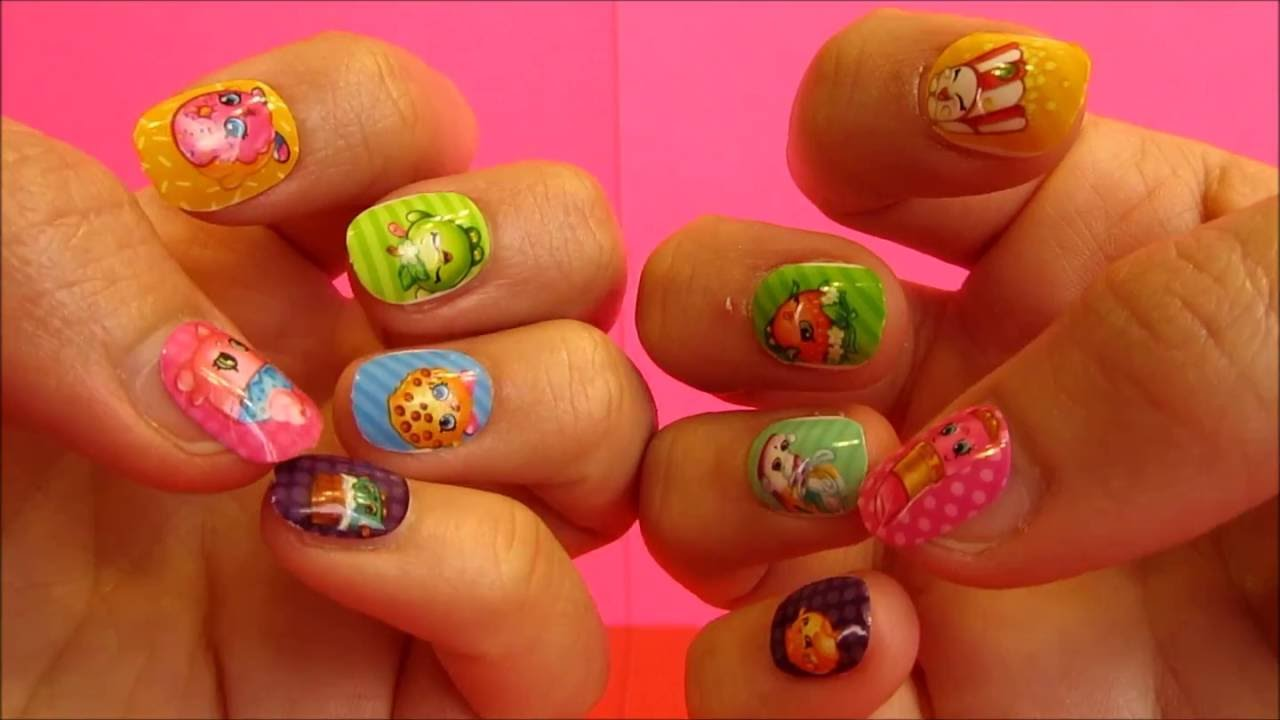Shopkins beautiful nail art press on nails and nail file youtube prinsesfo Image collections