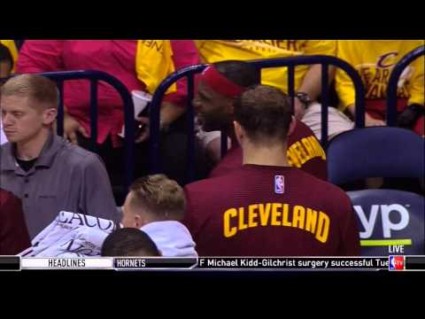 Richard Jefferson dunks on Walter Tavares: Cleveland Cavaliers vs. Atlanta Hawks preseason