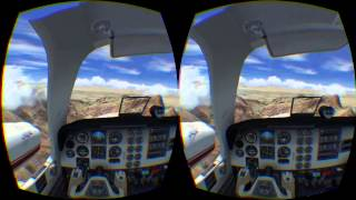 Flying the Beechcraft Baron 58 in Prepar3D using the DCOC plugin and the Oculus Rift DK2
