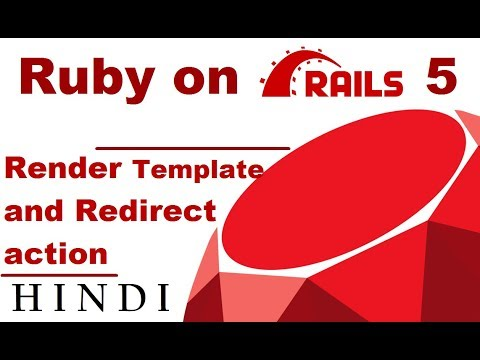 Ruby on rails 5 tutorial 4 render template and redirect for Rails render template
