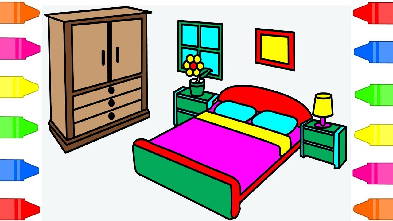 how to draw kids bedroom