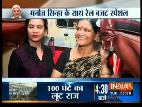 Delhi to Varanasi with Mr Manoj Sinha MoS Railways Exclusive on Pre Rail Budget 2016 India TV