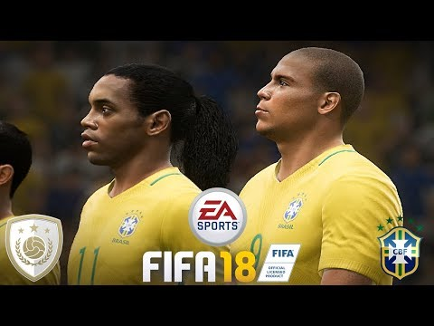 FIFA 18 | NEW BRAZIL ICONS | Legends Team | Gameplay
