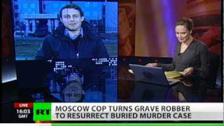 Moscow cop turns grave robber