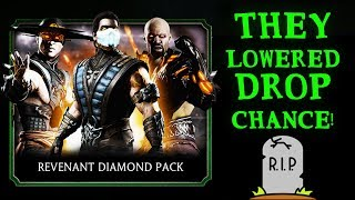 Mortal Kombat Mobile. HUGE Revenant Diamond Pack Opening. They Went Too Far...