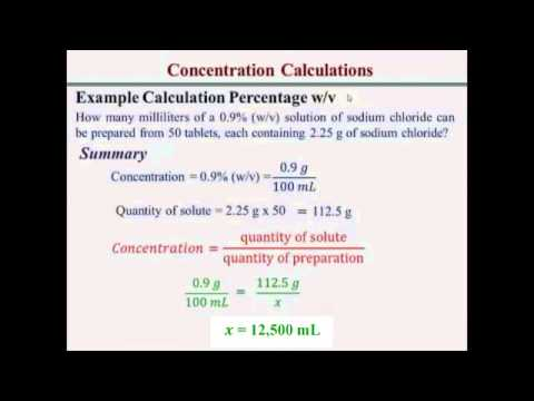 Percentage Concentration Calculations