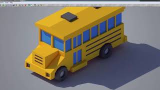 3ds Max modeling tutorial. Low Poly School Bus 3d modeling