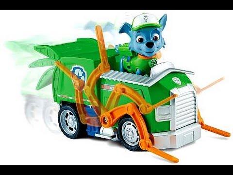 paw patrol pat patrouille rocky et son camion de recyclage vehicule figurines jouets pour. Black Bedroom Furniture Sets. Home Design Ideas