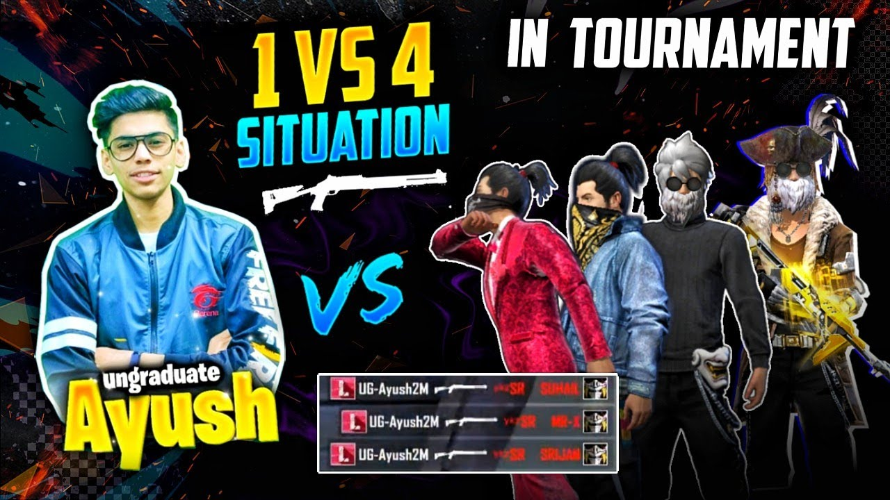 1 vs 4 Hardest Tournament Situation😵🔥Must Watch !! #UG-Empire