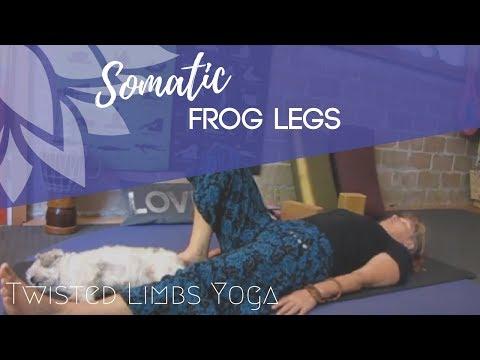 20 min.( frog legs) Gentle Somatic Yoga