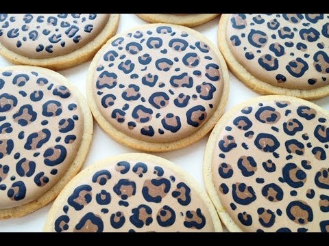 How To Make Leopard Print Co Es With Royal Icing