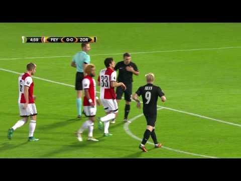 Samenvatting Feyenoord - Zorya Luhansk 2016-2017
