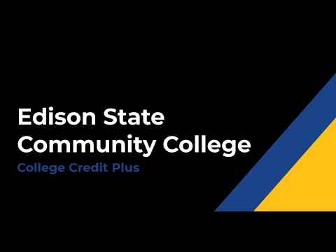 Edison State Community College - College Credit Plus Video 2