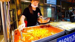 Korea Street Food - SUPER CHEESY Korean Food in Taiwan!! BEST BBQ + SPICY FRIED CHICKEN!!