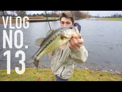 Pond Hopping Winter Bass ft. Apbassin -- VLOG #13