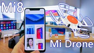 Xiaomi Mi8, Mi8 SE, Mi Band 3, And New Mini Mi Drone Hands on 👐