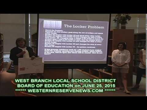 WEST BRANCH SCHOOL BOARD OF EDUCATION JUNE 25, 2015