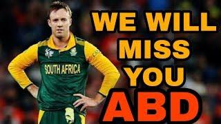 AB DeVilliers Retires from International Cricket || Saddest day in Cricket