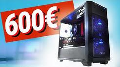 600€ Euro GAMING PC 2019 - Test & Zusammenbauen!!