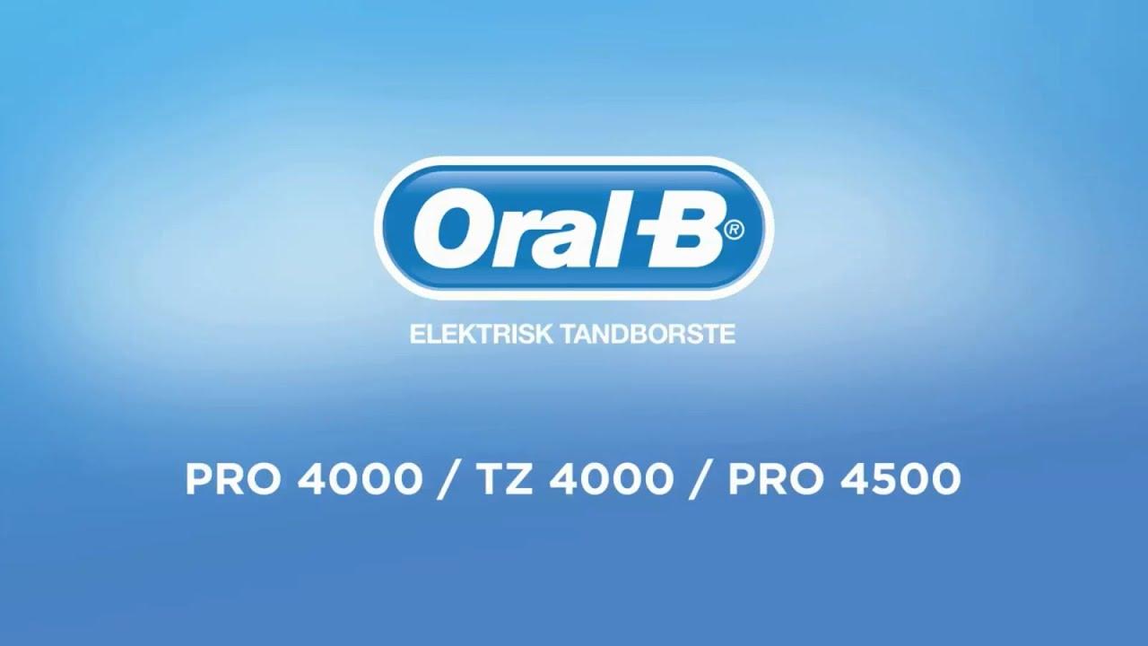 Oral-B PRO4000   TZ4000   PRO4500 Eltandborste Med Olika Hastigheter ... 015b8c6a150f7