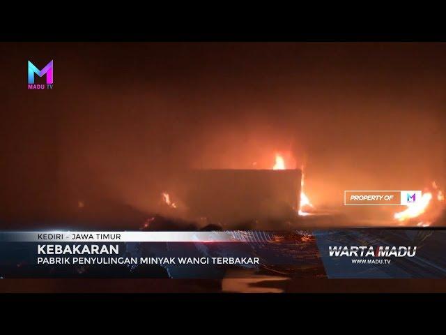 Pabrik penyulingan minyak wangi terbakar