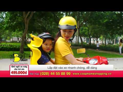 Beesmart - Ghế Ngồi Xe Máy An Toàn Hơn Cho Bé - HTV COOP