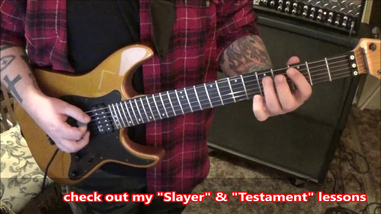 Arch Enemy First Day In Hell Guitar Lesson By Mike Gross Youtube