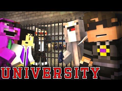 "MINECRAFT UNIVERSITY! - ""WELCOME TO JAIL?"" #6 (Minecraft Roleplay)"