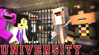 "MINECRAFT UNIVERSITY! - ""WELCOME TO JAIL?"" #6 (Minecraft Roleplay)"