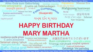 MaryMartha   Languages Idiomas - Happy Birthday