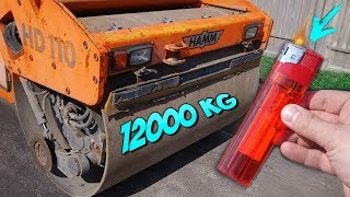 12 TONS ROAD ROLLER VS LIGHTERS
