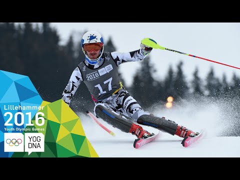 Slalom - Manuel Traninger (AUT) wins Men's gold   Lillehammer 2016 Youth Olympic Games