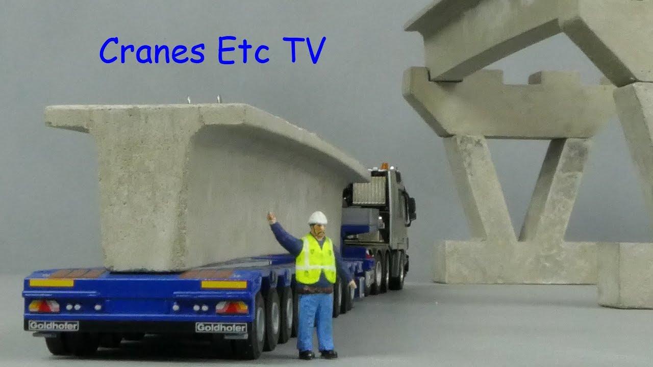 BSR Concrete Bridge Beams by Cranes Etc TV