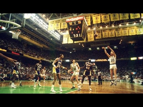 1984 NBA Finals highlights (Game 7) - Larry & Cedric vs Magic & Kareem