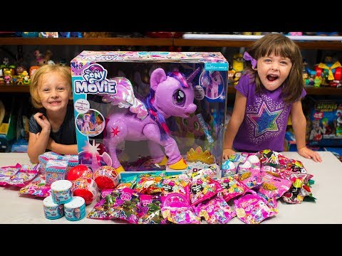 HUGE My Little Pony The Movie Surprise Toys for Girls MLP Surprise Eggs Blind Bags Kinder Playtime