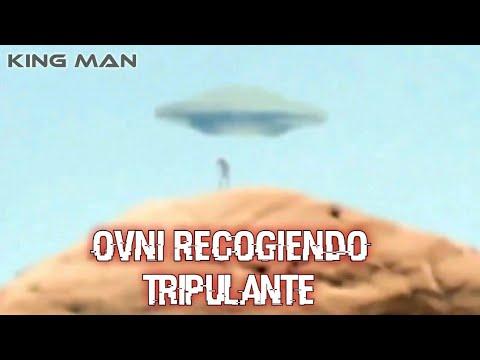 Ovni recogiendo tripulante Alien o abduce persona