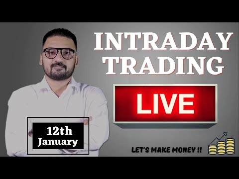 Live Intraday Trading Today | Bank Nifty Live Analysis | Nifty Today Analysis Live | 12th January