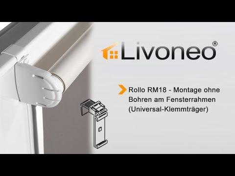 Bekannt Rollo - Montage mit Universal - Klemmträgern – ohne bohren - YouTube JD13