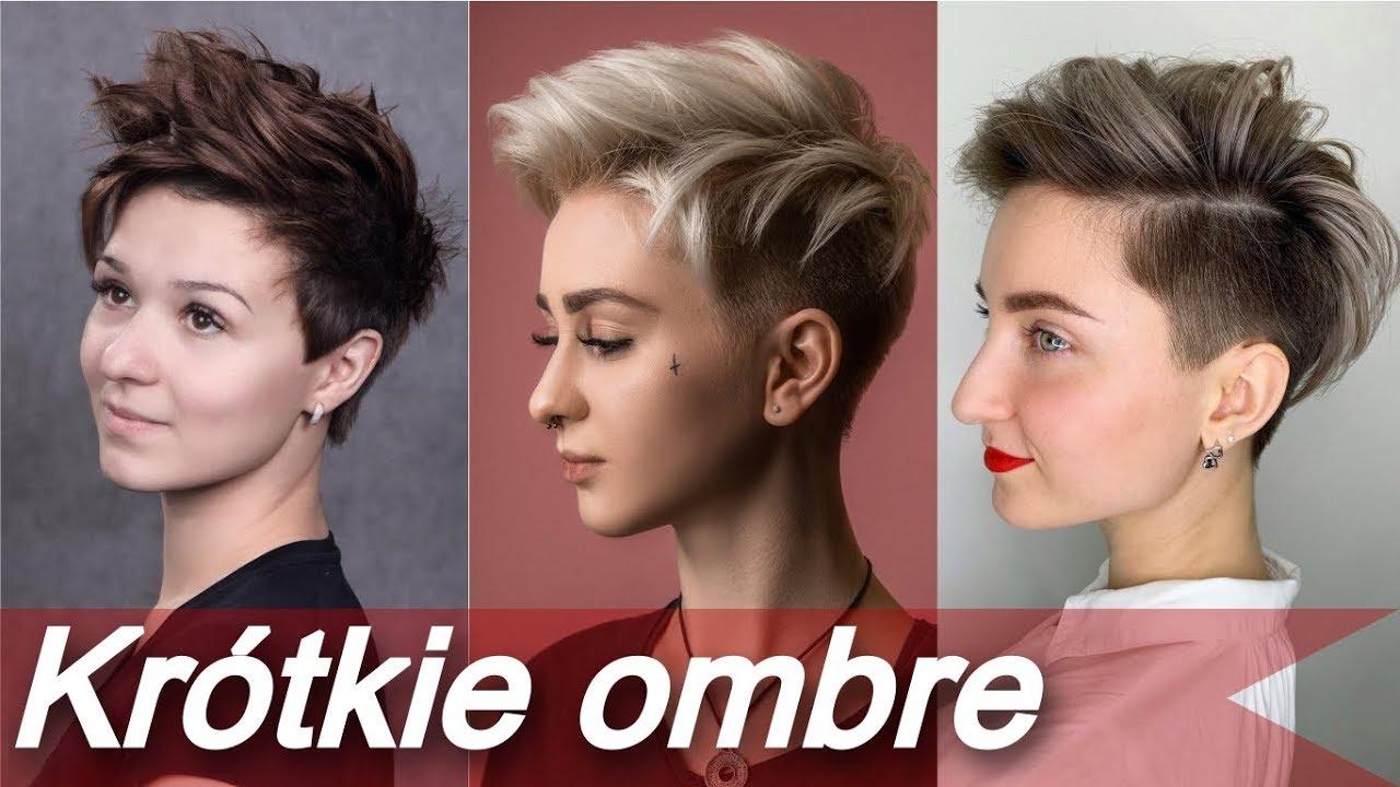 Krótkie Fryzury Ombre L Modne Kolory Włosów