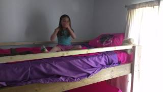 Emma's Very Own Homemade Loft Bed!